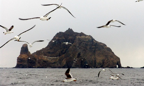 The disputed Dokdo Islands are in the Sea of Japan.