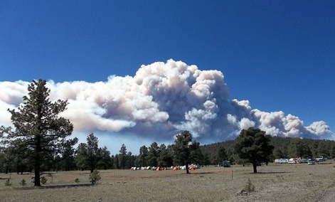 A view of Whiterwater-Baldy Fire on May 23.