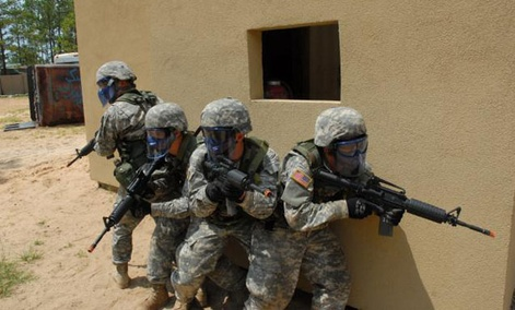 Army training has been, historically, been done offline.