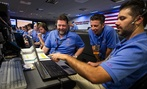Curiosity Rover team members at NASA's Jet Propulsion Laboratory