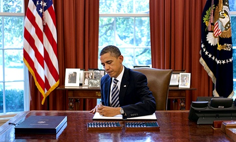 President Obama signs the Budget Control Act of 2011.