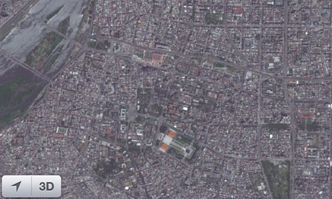 The west side of Taipei, as shown on Apple's satellite images.