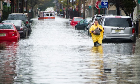 The storm flooded much of Hoboken, N.J.