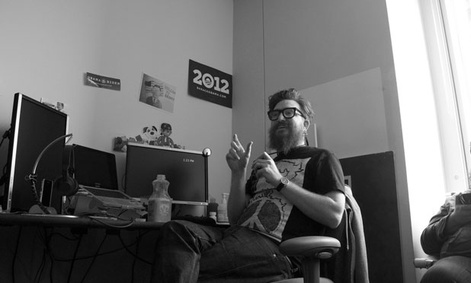 The campaign's chief technology officer, Harper Reed works in the campaign's Chicago offices.