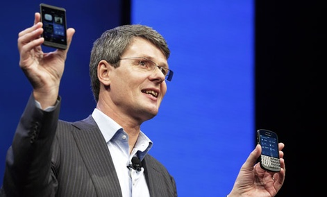 Thorsten Heins, CEO of Research in Motion, introduces the BlackBerry 10.