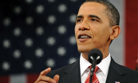President Barack Obama delivers his State of the Union address in 2010.