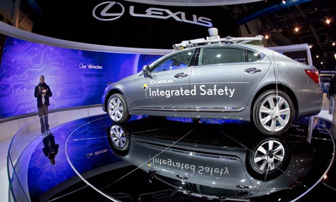 A Lexus SL 600 Integrated Safety driverless research vehicle