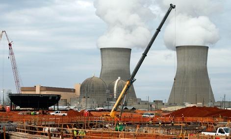 The Plant Vogtle nuclear power plant shown under construction in Augusta, Ga.