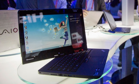 The Lenovo convertible Ultrabook is a transitional machine.