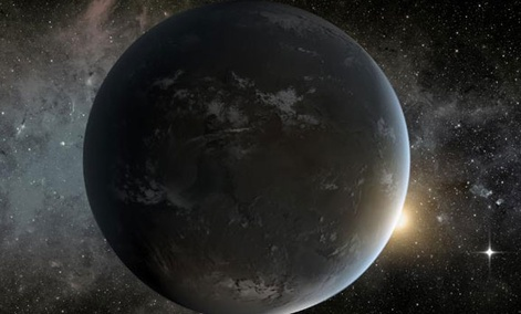 The artist's concept depicts NASA's Kepler misssion's smallest habitable zone planet.