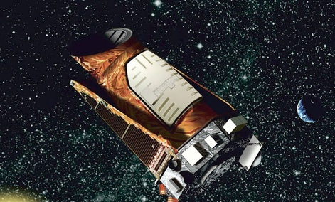 This artist rendition provided by NASA shows the Kepler space telescope.