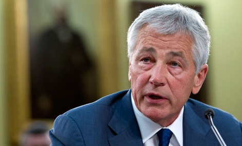 Defense Secretary Chuck Hagel testifies on Capitol Hill.