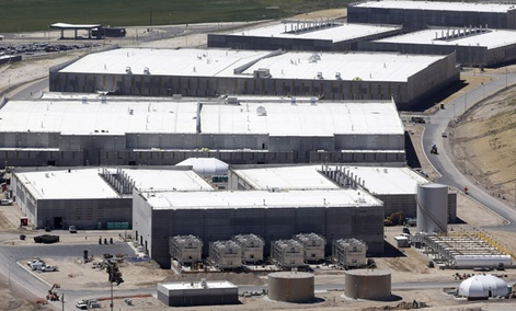 NSA's Utah Data Center is shown June 6, 2013, in Bluffdale, Utah.