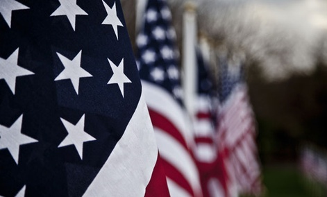 The U.S. Embassy in Montevideo, Uruguay, posted a Vine showing images of the American flag.