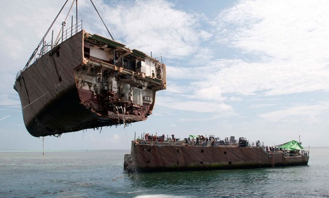 The USS Guardian ran aground on the Tubbataha Reef Jan. 17.