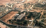 Aerial view of the left side of the US Embassy compound in Mogadishu, Somalia.