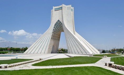 Tehran's Azadi monument celebrates the Persian Empire.