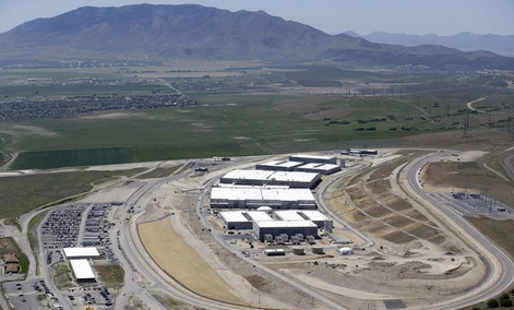 NSA's Utah Data Center, shown in June, occupies 200 acres in Utah.