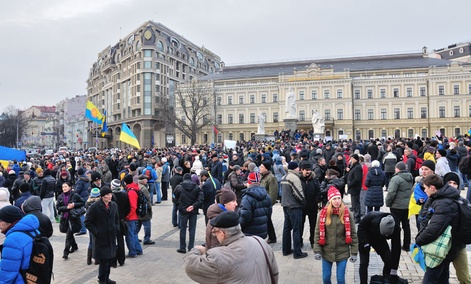 Protestors gathered in Kiev on Nov. 30.