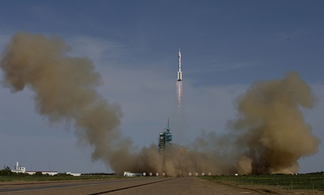 The Long March 2F rocket carrying the Shenzhou 10 capsule blasts off from the Jiuquan Satellite Launch Center Jiuquan in June.