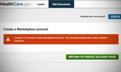 Users in the days after the site's launch were greeted with error messages.