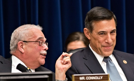 House Oversight Committee Chairman Darrell Issa, R-Calif., (right) and Rep. Gerry Connolly, D-Va., cosponsored FITARA.