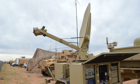 Soldiers train with new communications systems at Fort Bliss in November.