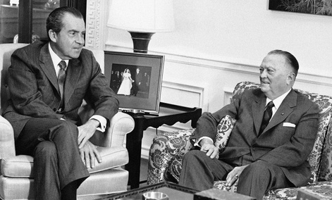 FBI Director J. Edgar Hoover, 77 years old with President Richard Nixon in 1971.