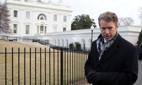 Sen. Rand Paul, R-Ky. stands outside of the White House.