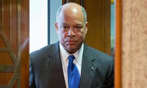 DHS' Jeh Johnson, a former top Pentagon lawyer, formulated the White House policy on lethal drone strikes in Yemen and Somalia.