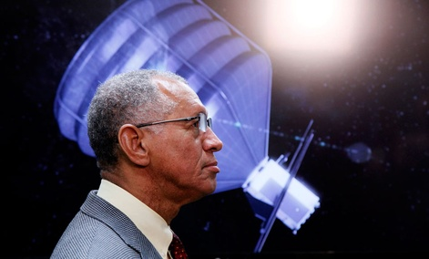 NASA Administrator Charles Bolden visits the Jet Propulsion Laboratory in Pasadena, Calif.