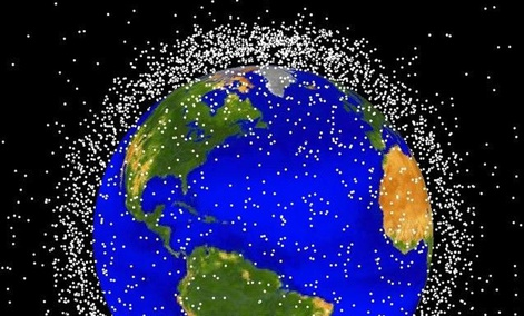 Earth is surrounded with lots of space debris.