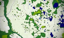 The USA National Wetlands Inventory is one of the interactive maps produced by the Geoplatform.gov tool.