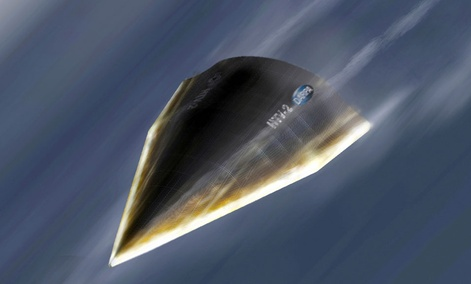 A Hypersonic Technology Vehicle-2, an unmanned hypersonic glider developed by DARPA.
