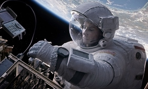 "Sandra Bullock in a scene from ""Gravity."""
