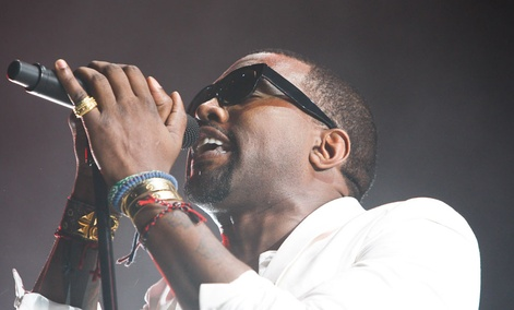 Kanye West performs in Morocco in 2011.