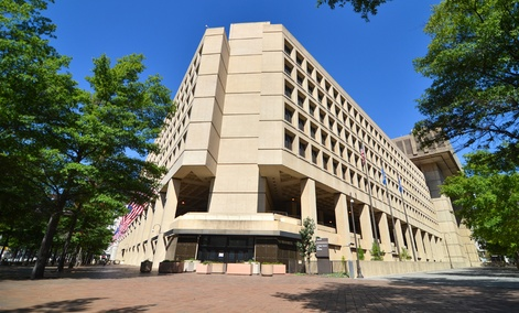 The FBI is headquartered in the J. Edgar Hoover Building in Washington, DC.