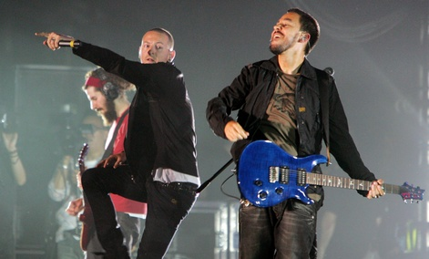 Linkin Park performs during the Live Earth concert in Japan in 2007.