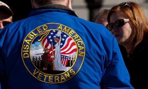 Veterans gather at a rally in January 2013 in Harrisburg,.