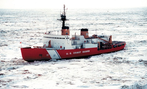 A U.S. Coast Guard Ice Cutter, Polar Star.