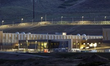 A ground level view of Utah's NSA Data Center in Bluffdale, Utah.