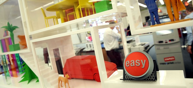 A 3D printing module on display at Staples. The Postal Service's use of 3D printing might not be such an easy fix.