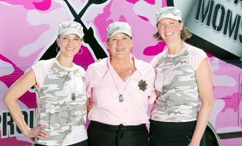 Team Military Moms is comprised of Michele Bajakian, Carol Rosenberg and Wendy Newman, as seen on Food Network's, The Great Food Truck Race Season 5.