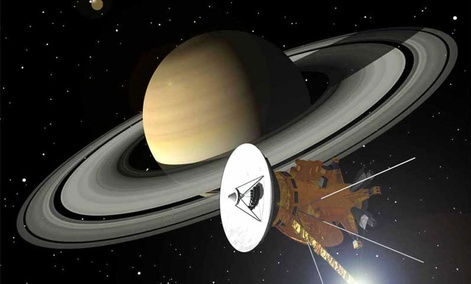 The Cassini Probe, sent to Saturn in 1997.