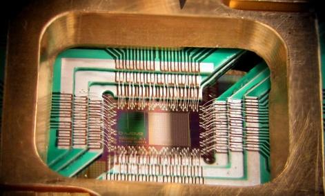 D-Wave Systems, Inc.'s DWave 128chip for quantum computing.
