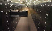 Fling cabinets at FBI headquarters/
