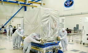 NOAA's GOES-R Advanced Baseline Imager (ABI) instrument arrives at Lockheed Martin's Littleton, Colorado facility.