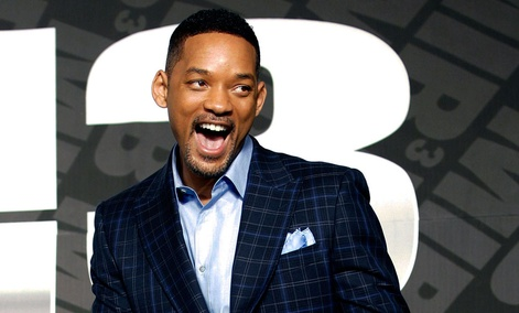"Actor Will Smith poses upon his arrival for a press conference to promote his new movie ""Men in Black III""."