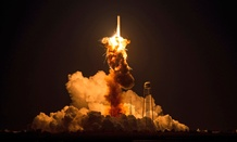 The Orbital Sciences Corporation Antares rocket, with the Cygnus spacecraft onboard suffers a catastrophic anomaly moments after launch.