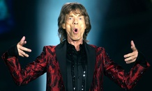 Singer Mick Jagger of British band, the Rolling Stones.